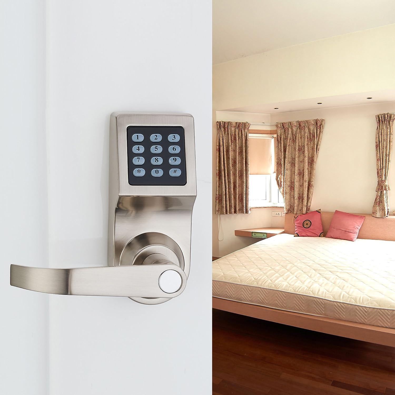 haifuan digital door lock unlock with m1 card code and key