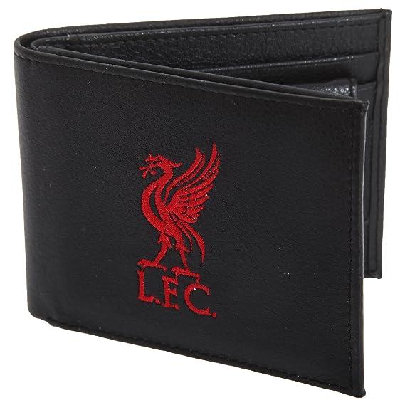 Liverpool FC - Cartera / Billetera oficial de piel Modelo escudo bordado hombre caballero - Fútbol