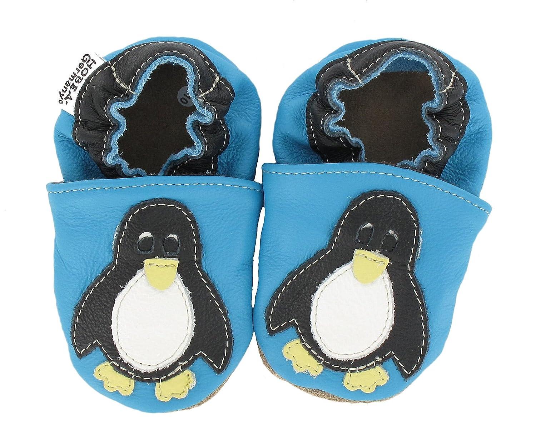 HOBEA-Germany Krabbelschuhe Pinguin - Pantuflas para Bebé s F02056