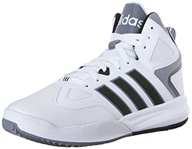 adidas Neo Men's Cloudfoam Thunder Mid Shoe,White/Black/Grey,12 M