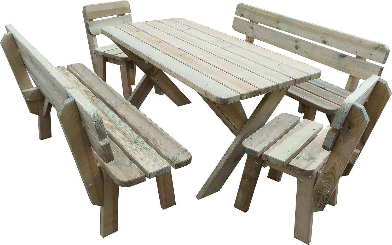 Platan Room Gartenmöbel Aus Kiefernholz 120 Cm 150 Cm 180 Cm Breit Gartenbank Gartentisch Kiefer Holz Massiv Imprägniert Set 2 Tisch 2 Bänke