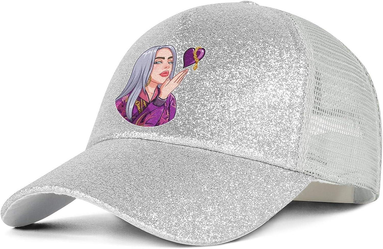 Women Ponytail Hat Lightweight Adjustable Classic Breathable Trucker Cap