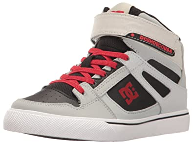 12f5f9f665d DC Youth Spartan High EV Skate Shoes Sneaker Grey Black Red 3.5 M US