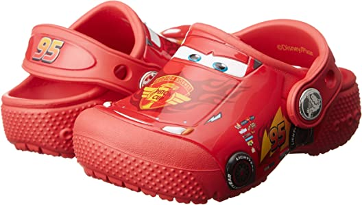 Crocs Fun Lab Cars Lightning Flame Red  Clog Toddler//Little Kid