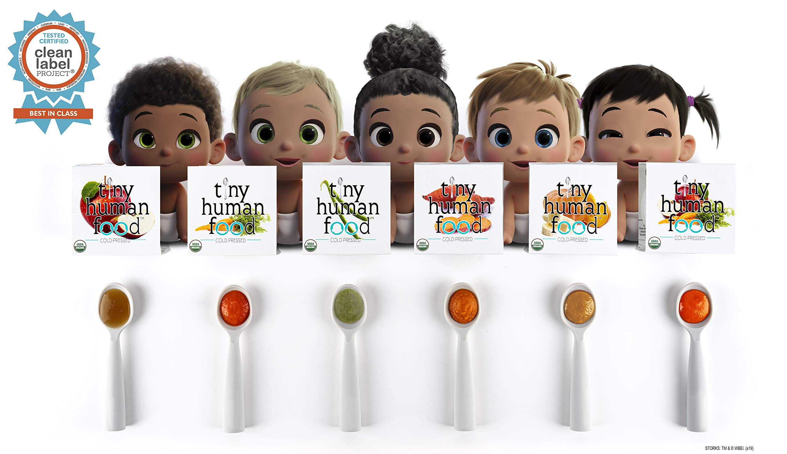Fresh, Cold-Pressed, Organic Baby Food - Tiny Human Food - Curious Nibbler Sample Pack (6) 2PKS (12+ Meals) by Tiny Human Food
