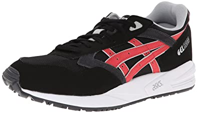 ASICS Men's Gel Saga Fashion Sneaker,Black/Burgundy,4.5 ...