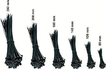 Serre-c/âbles ail/és en nylon pour ch/âssis de voiture Noir noir