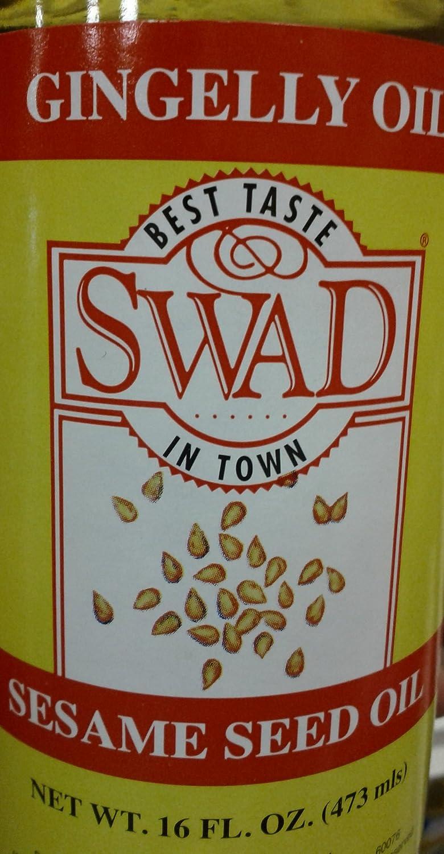 Amazon.com : Swad Gingelly Oil 16 Fl Oz : Gourmet Oils : Grocery & Gourmet Food