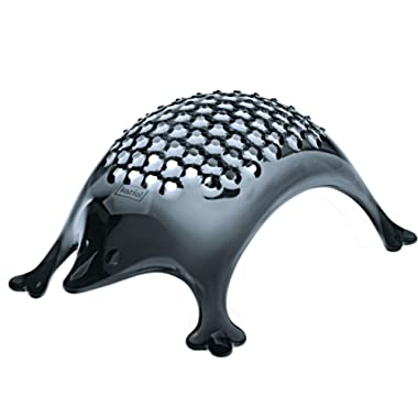 koziol (3079540) KASIMIR Hedgehog Cheese Grater, transparent anthracite