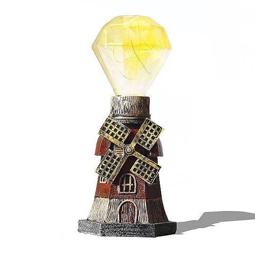 Lámpara de Mesa Vintage,AZXES,Lampara de Mesa Led,Lámpara del Pila ...