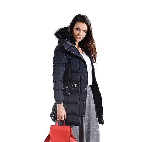 Charcoal Fashion - Abrigo impermeable - para mujer