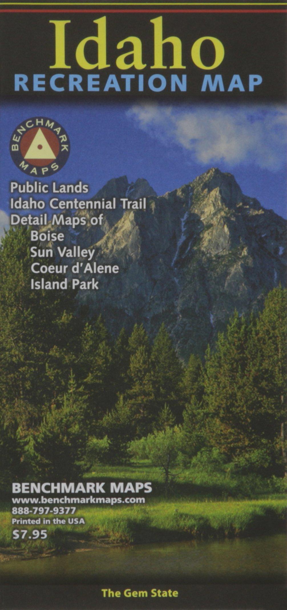 Hwy 95 Idaho Map.Idaho Recreation Map Benchmark Maps Atlases 9780783499185