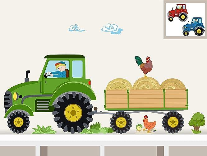 Wandtattoo Traktor Kinder Reuniecollegenoetsele