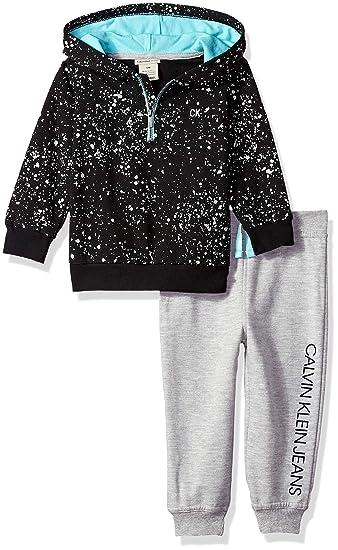 d25b5c65c724 Calvin Klein Baby Boys 2 Pieces Hooded Jog Pant Set  Amazon.com.au ...