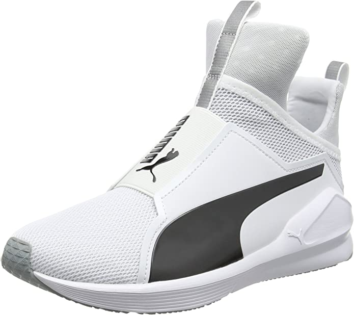 Puma Fierce Core Sneakers Trainingsschuhe Damen Weiß mit Schwarzen Streifen