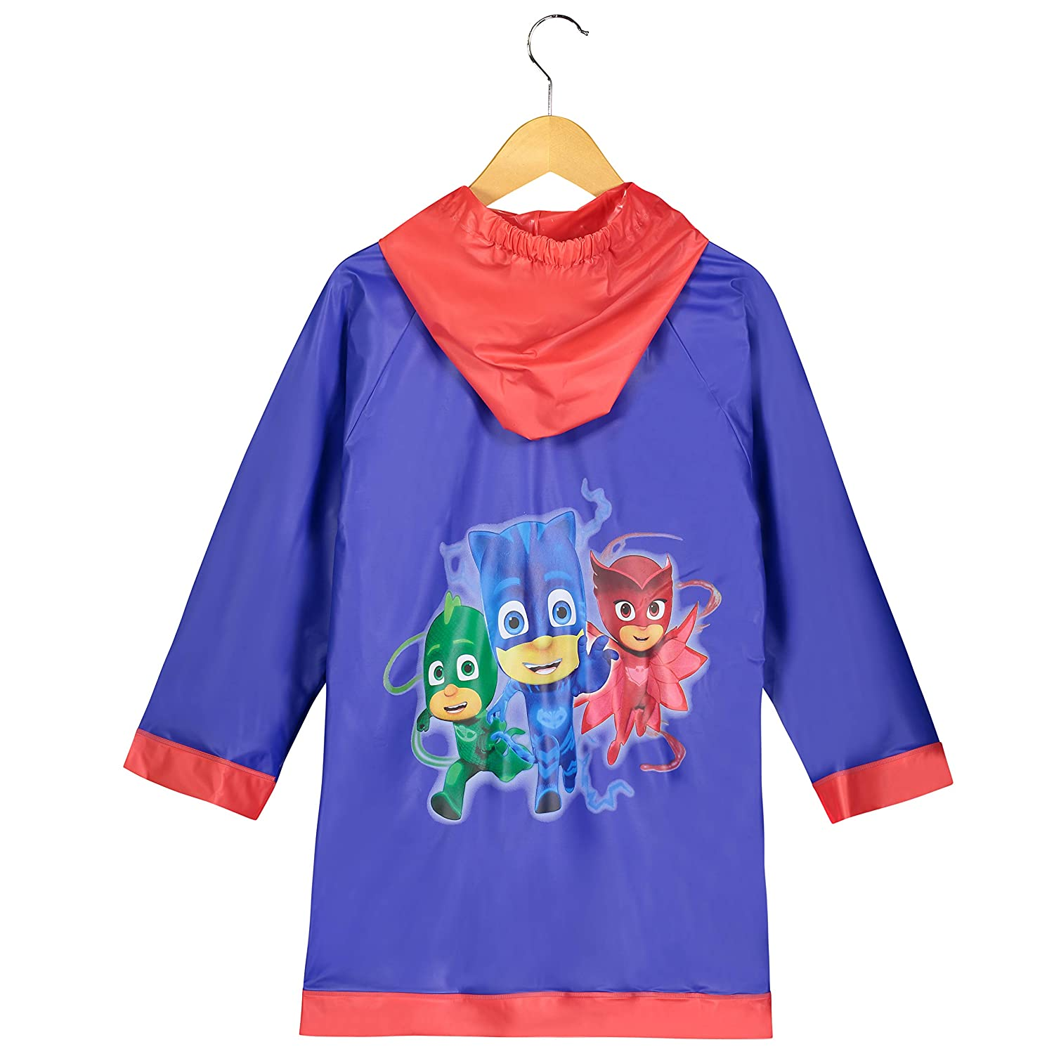 Disney Boys PJ Masks Blue and Red Rain Slicker Toddler 6 7 Large