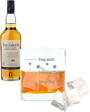 Whiskey 677132 - Juego de 2 Botes de Whisky de 10 años con diseño de Palisandro y escocés (45,8%, 200 ml)