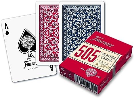 Caja de barajas FOURNIER 505 (6 Rojo / 6 Azul): Amazon.es ...