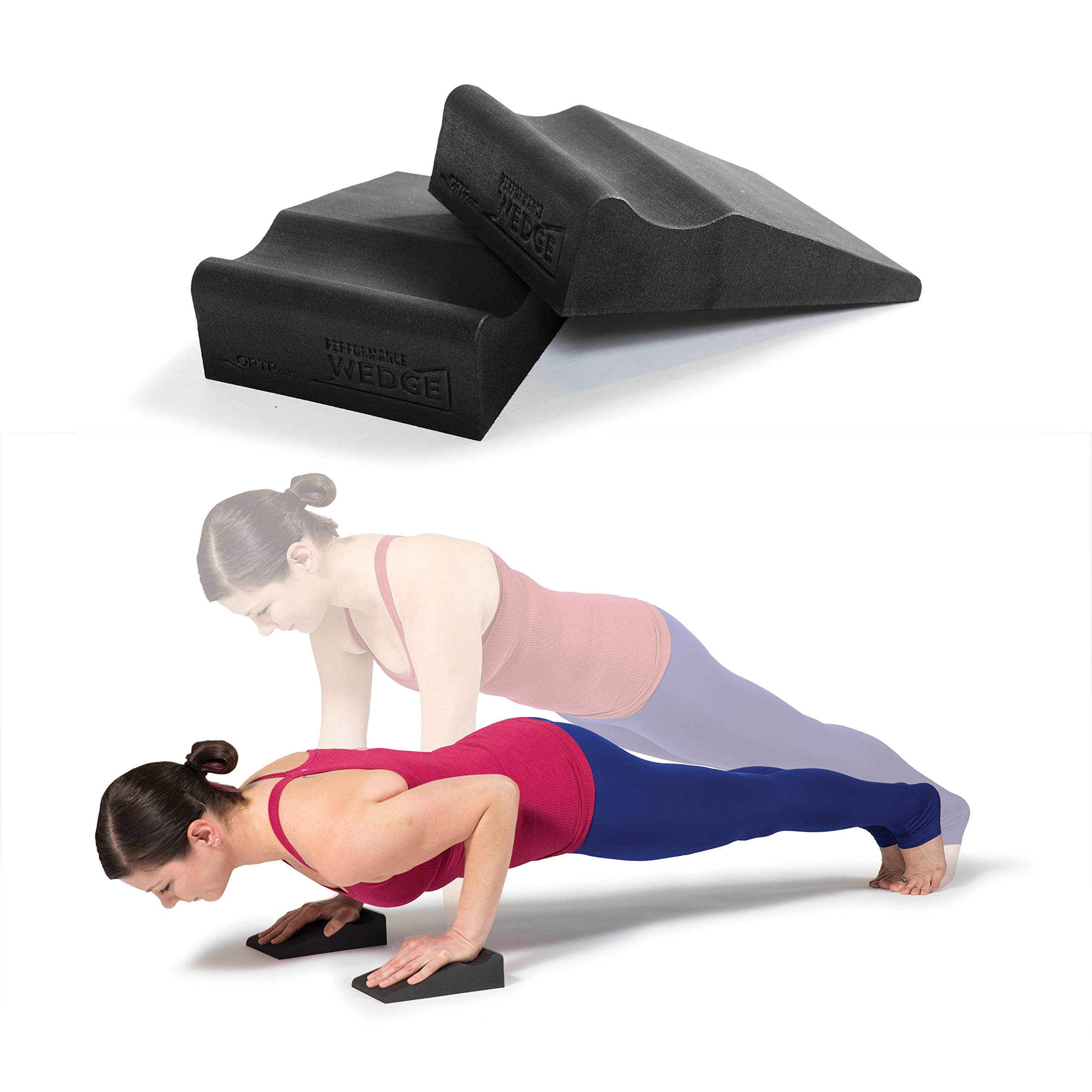 OPTP Performance Wedges – Foam Supports for Fitness, Yoga, Pilates, and Physical Therapy Exercise: Ideal for Squats, Planks, and Pushups