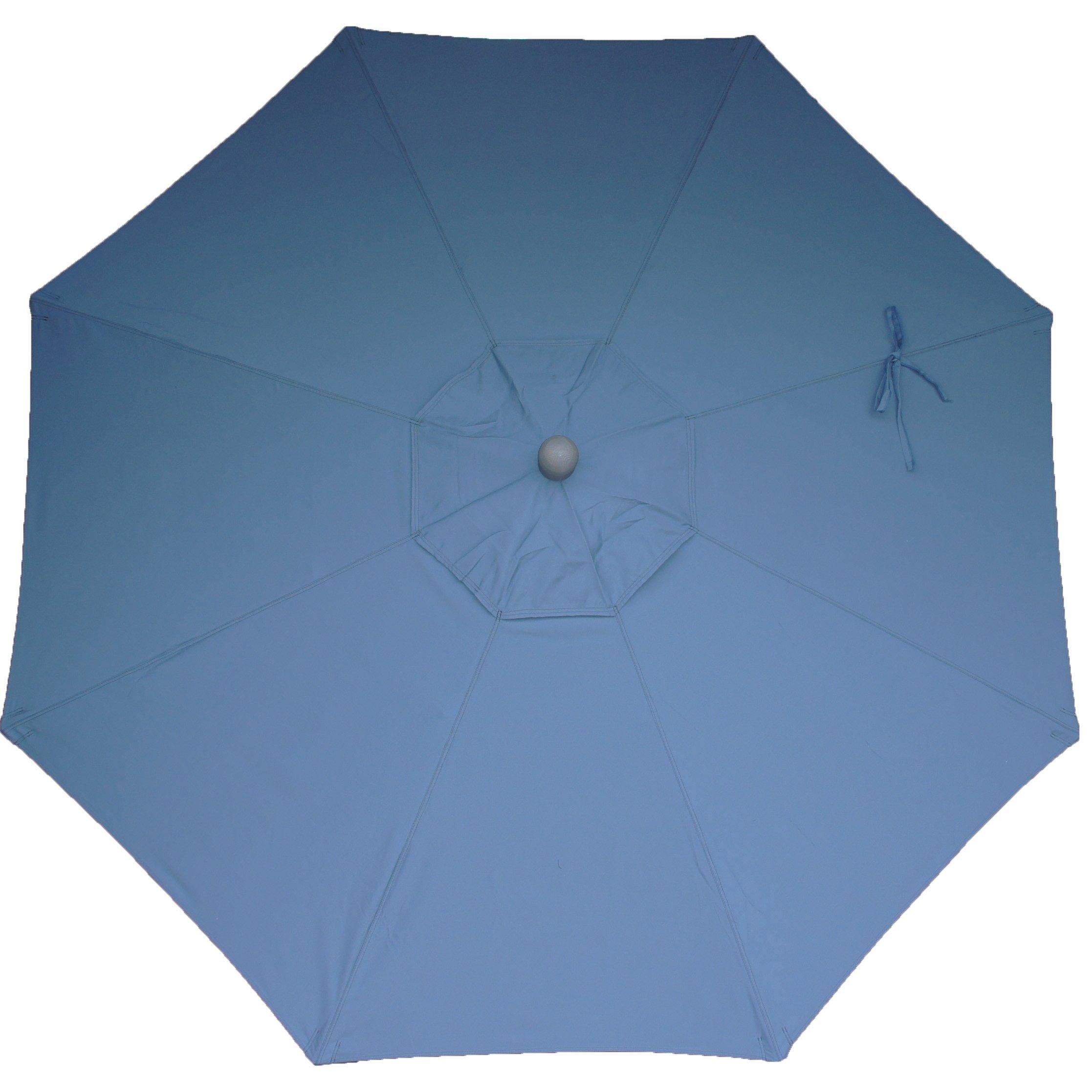 9ft 8 Ribs Market Umbrella Replacement Canopy (Sunbrella- Sapphire)