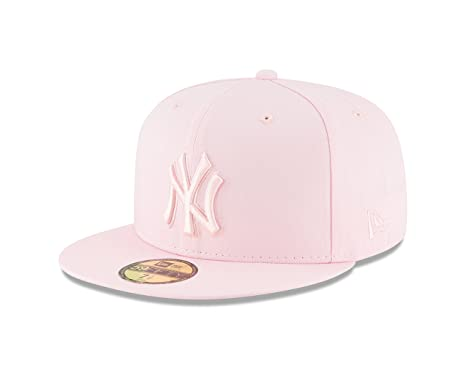 New Era New York Yankees Tonal Pastel PINK Fitted 59Fifty MLB Hat (7 1  1b7f096e6fea