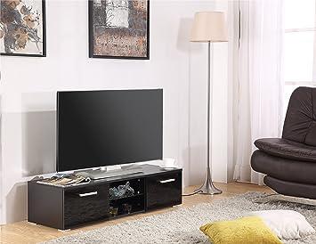 Harmin marca nuevo moderno 120 cm soporte para televisor mueble con puertas de alto brillo: Amazon.es: Electrónica