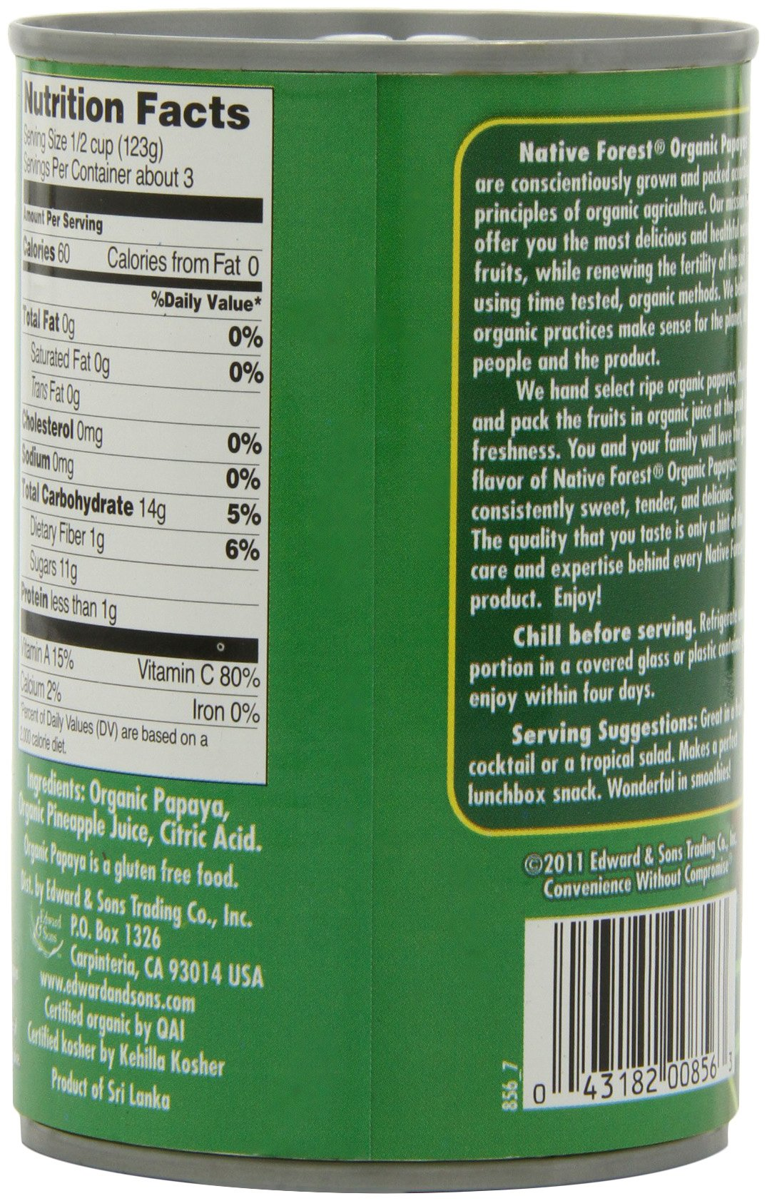 Native Forest Organic Papaya Chunks, 14-Ounce Cans (Pack of 6) by Native Forest (Image #7)