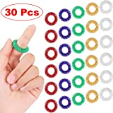30 Pieces Spiky Sensory Finger Rings, Spiky Finger Ring/Acupressure Ring Set for Teens, Adults, Silent Stress Reducer…