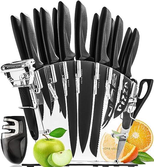 Compra HomeHero Juego de Cuchillos de Cocina Profesionales con ...