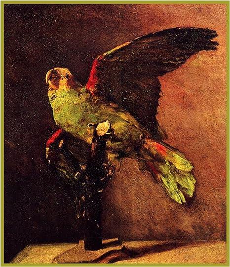 El Parrot verde de café por la noche de Vincent van Gogh de punto ...