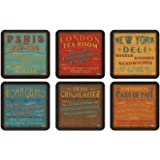 Pimpernel Lunchtime Coasters - Set of 6 by Pimpernel-Portmeirion