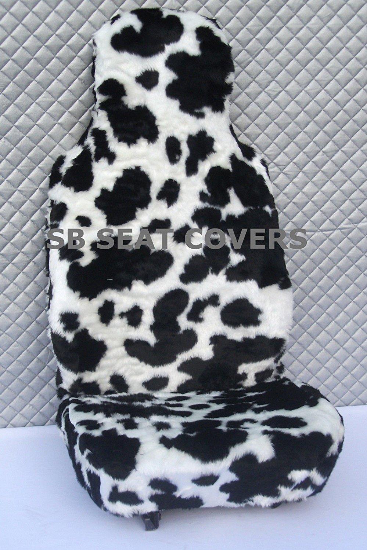 blanco y negro piel sint/ética de vaca fundas para asiento Para un Mini Countryman 2/frentes