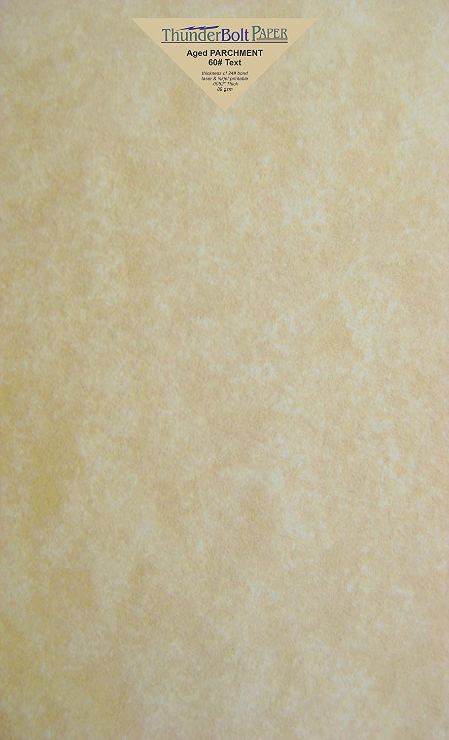 150 Old Age Parchment 60# Text (=24# Bond) Paper Sheets - 8.5