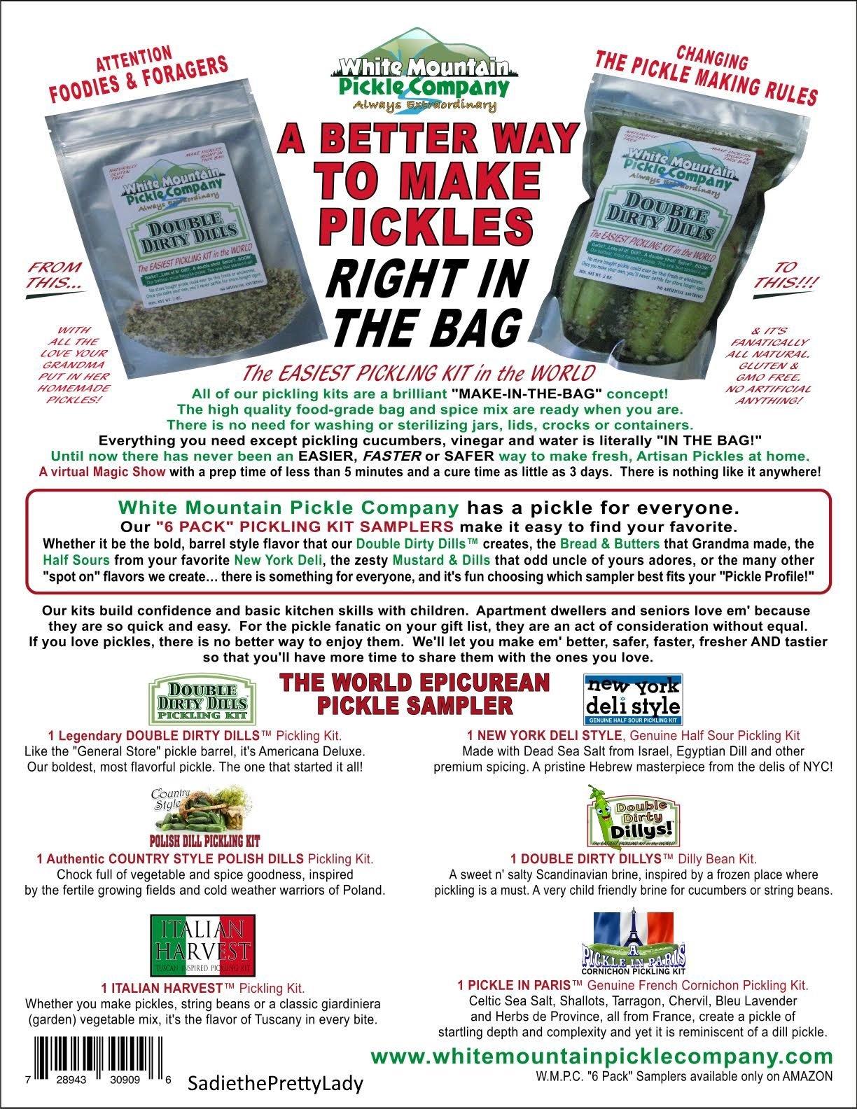 White Mountain Pickle Company ''The World Epicurean'' Sampler Pickling Kit - 6 Pack