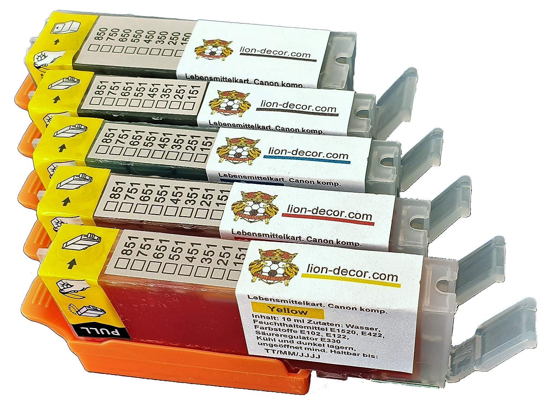 PGI-550 CLI-551 - Juego de cartuchos de tinta comestible ...