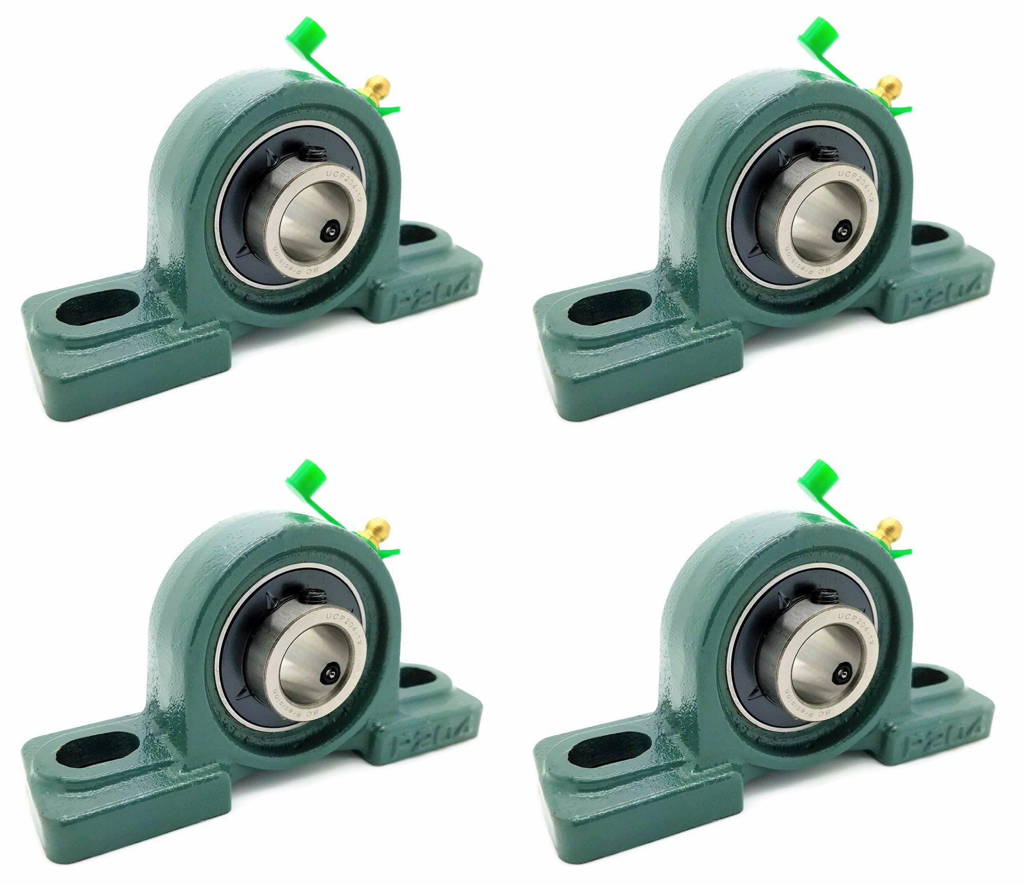 Eowpower 4Pcs 8mm Bore Diameter Flanged Ball Mounted Pillow Block Insert Bearing