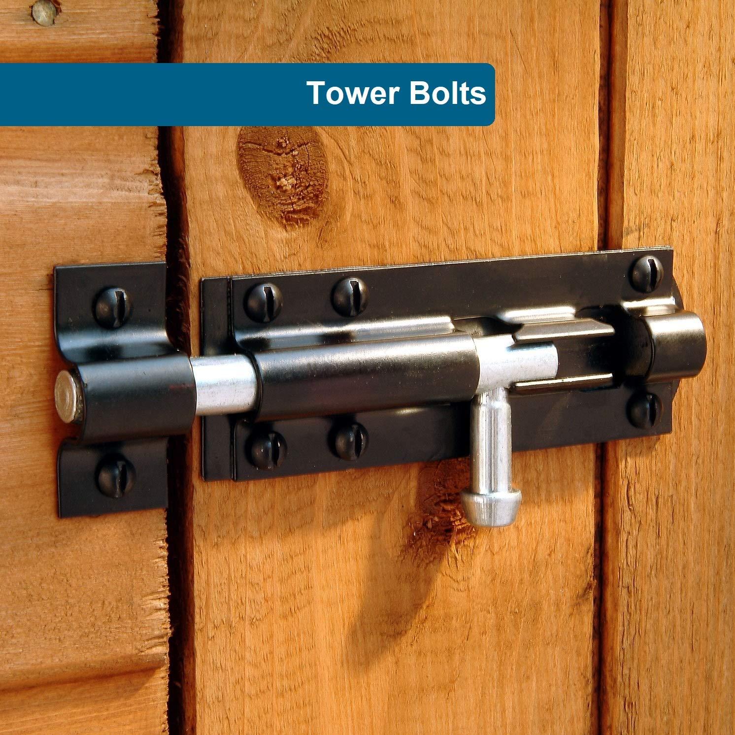 Paquete de 2 cerrojos resistentes para puerta, cerrojo deslizante, ideal para jardín, puerta de entrada y puerta de cobertizo: Amazon.es: Bricolaje y ...