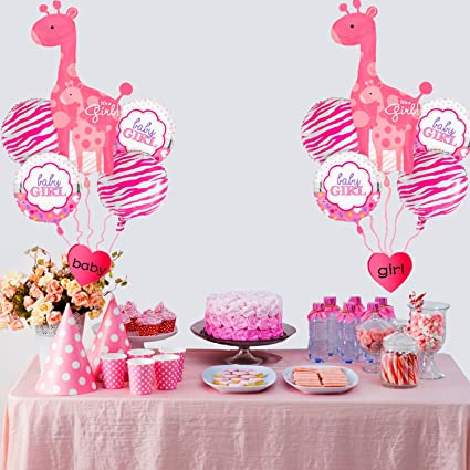 Amazon Swibitter Baby Shower Party Decoration Pink Foil