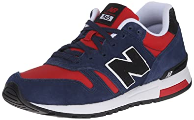 New Balance Men's ML565 Classics Pack Classic Running Shoe, Navy/Red ...