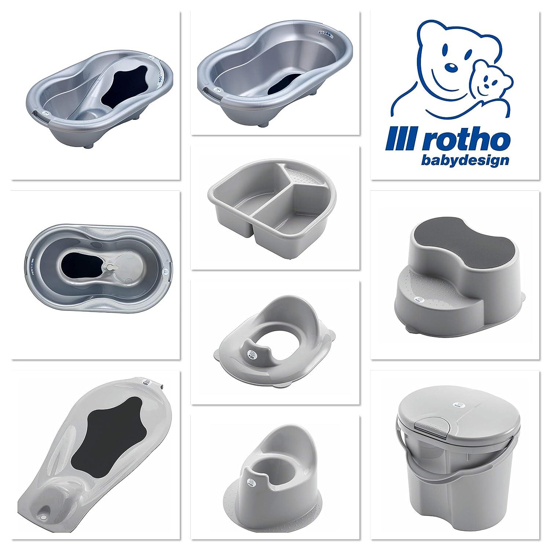 Rotho Babydesign Wickelauflage mit Steppoptik 204430168CI Ab 0 Monate 85x72x7cm Royal Perlsilber