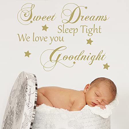 Sweet Dreams Sleep Tight We Love You Goodnight Wall Stickers Quote