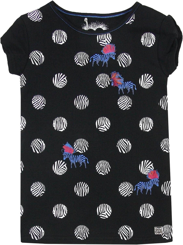Sizes 7-12 Deux par Deux Girls T-Shirt with Zebra Print So Safari
