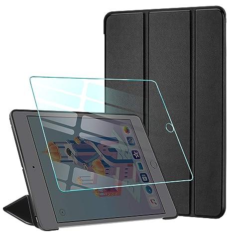 AROYI Funda iPad Mini 4 + Protector Pantalla, Carcasa Silicona Smart Cover con Soporte Función Auto-Sueño/Estela para iPad Mini 4