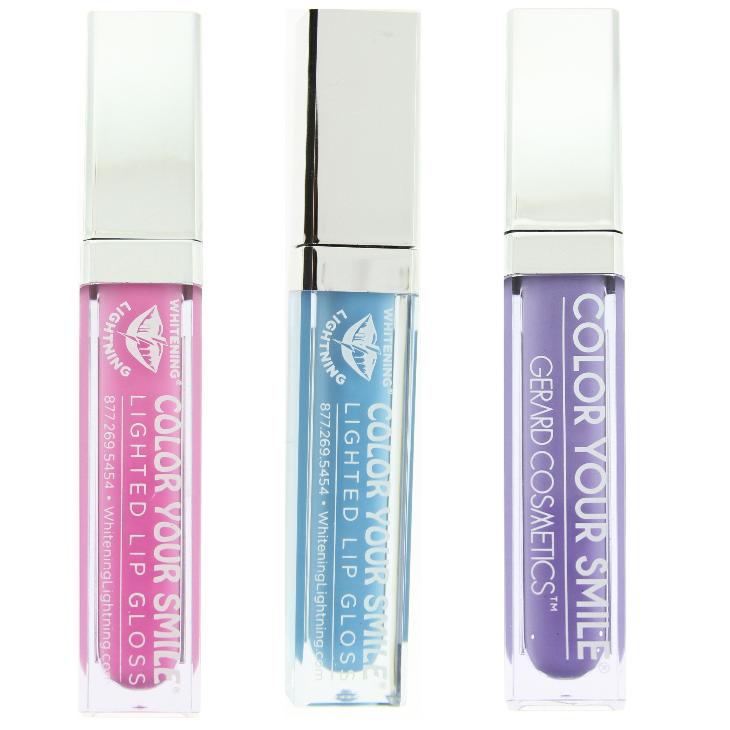Color Your Smile Lighted Lip Gloss Trio Set 7 (Bahama ? Fiji -Bermuda)