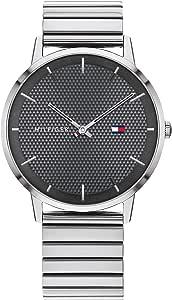 Tommy Hilfiger - Reloj analógico de Cuarzo para Hombre con Pulsera de Acero Inoxidable