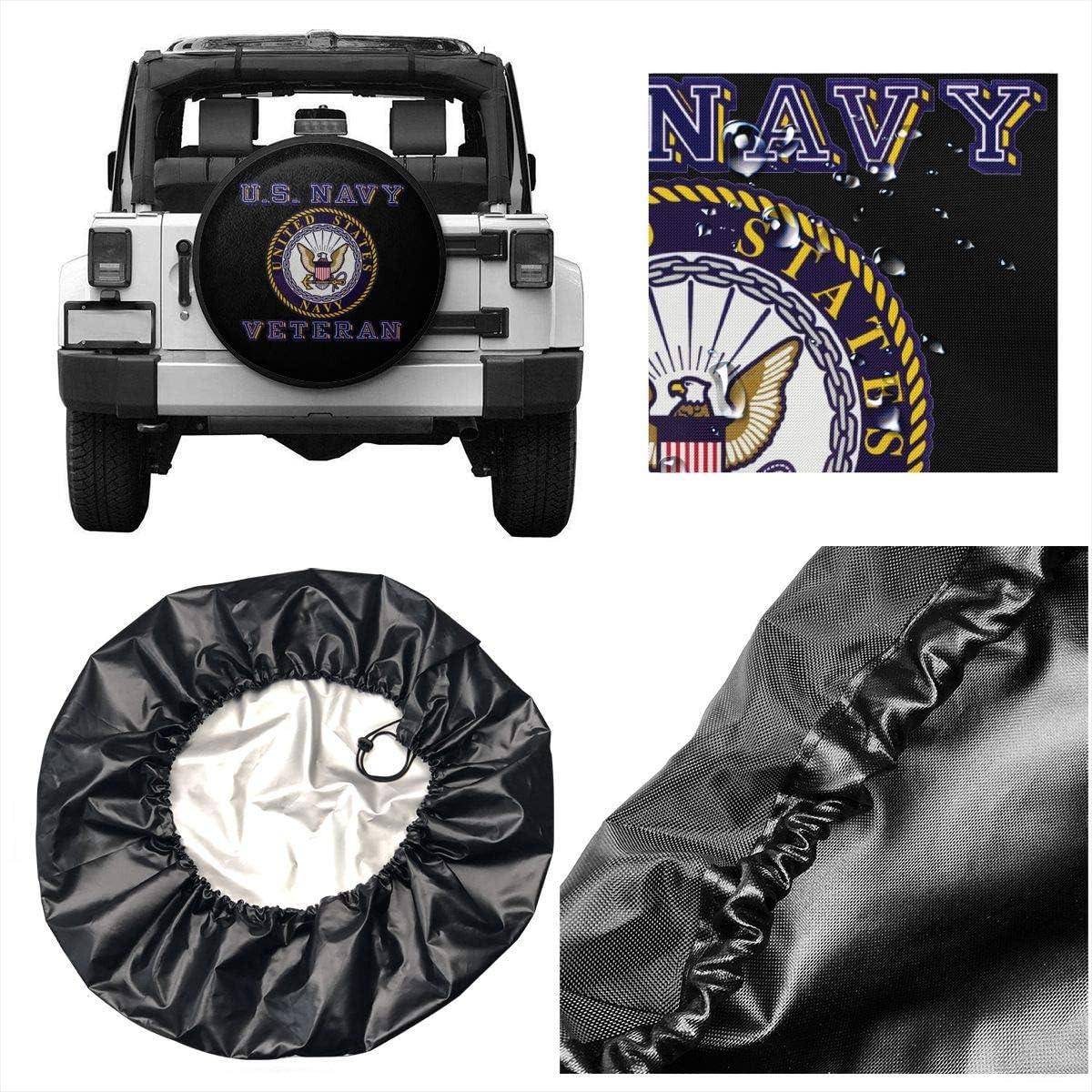 Spare Wheel Tire Cover for Je p Trailer RV SUV Truck Camper Travel Trailer Accessories US Navy Veteran 3