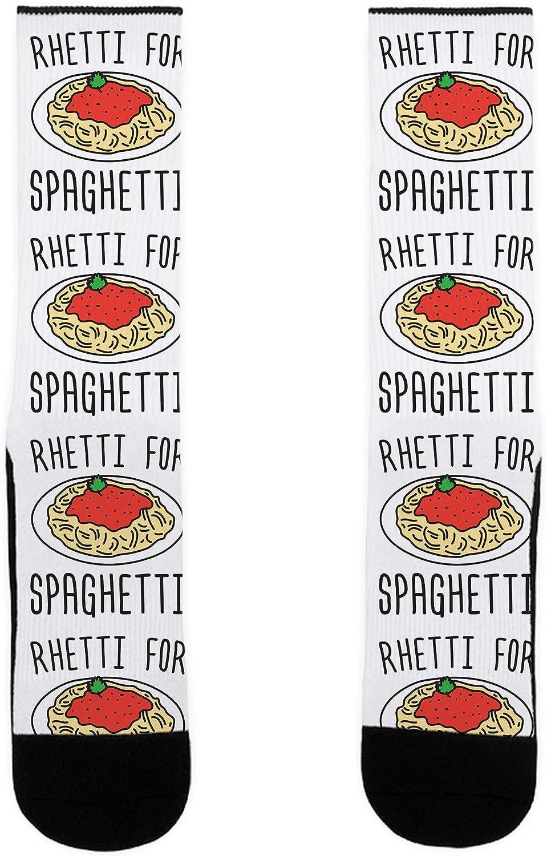 LookHUMAN Rhetti For Spaghetti US Size 7-13 Socks