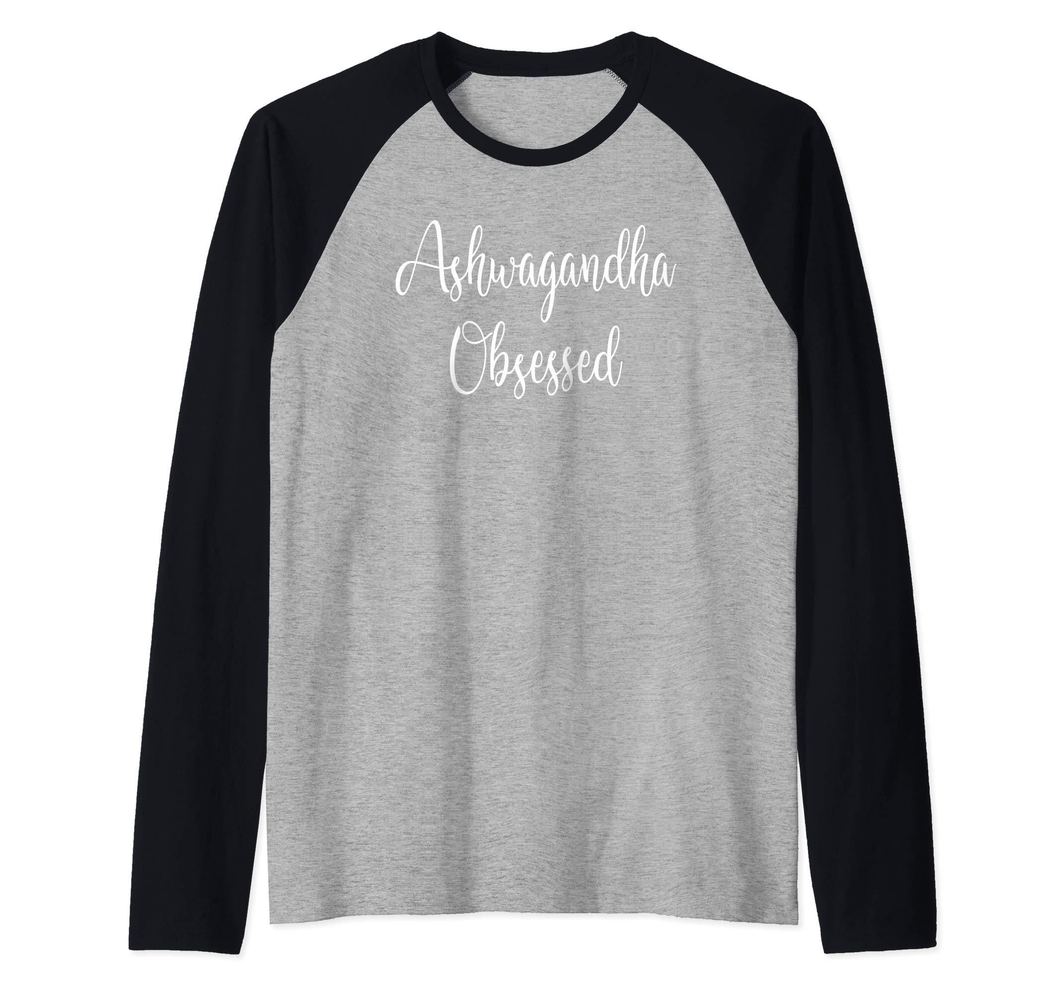 Ashwagandha Powder Tshirt | Health Supplements Tshirt Raglan Baseball Tee by Ashwagandha Powder Tshirts
