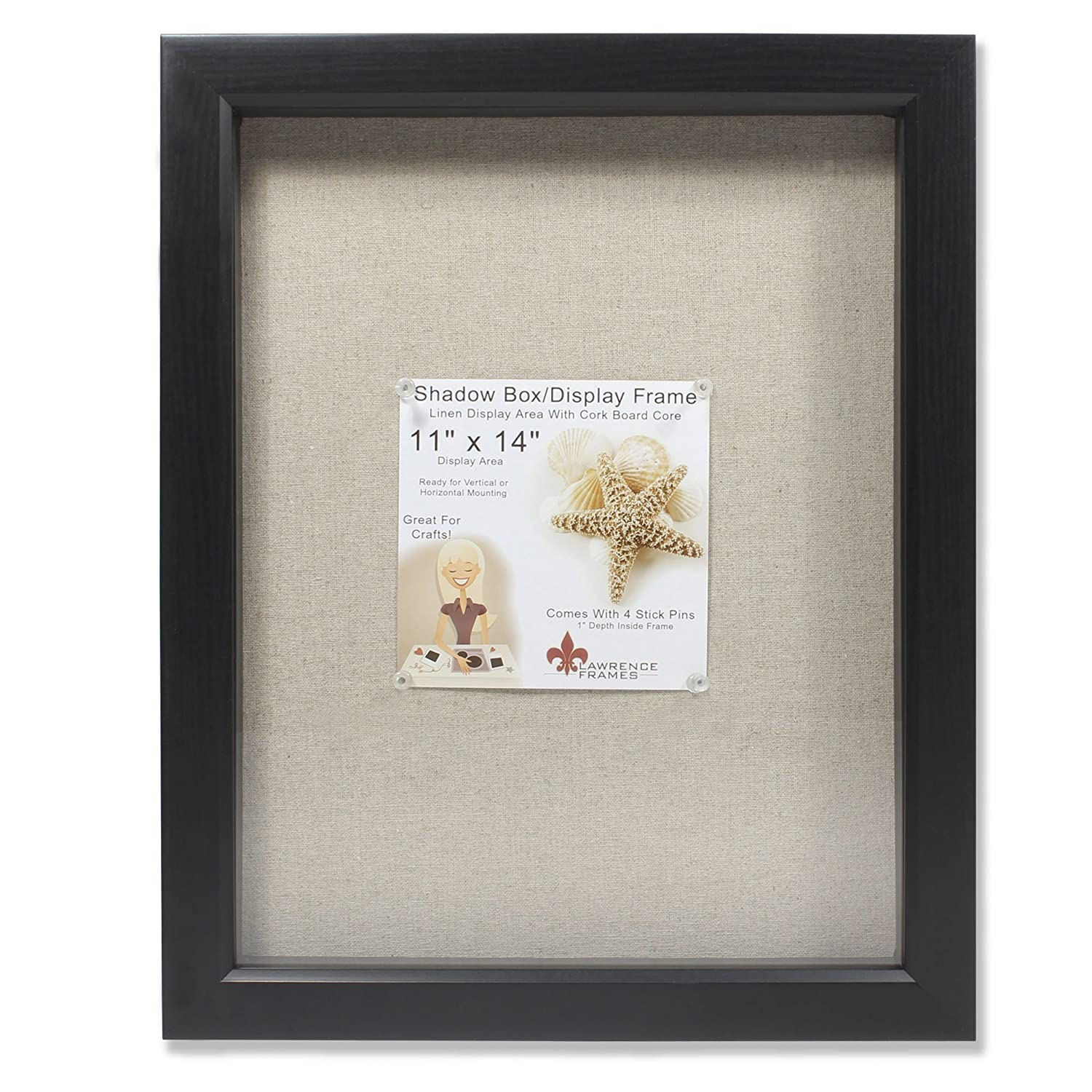 Amazon.com - Lawrence Frames 12 by 12-Inch Black Shadow Box Frame ...