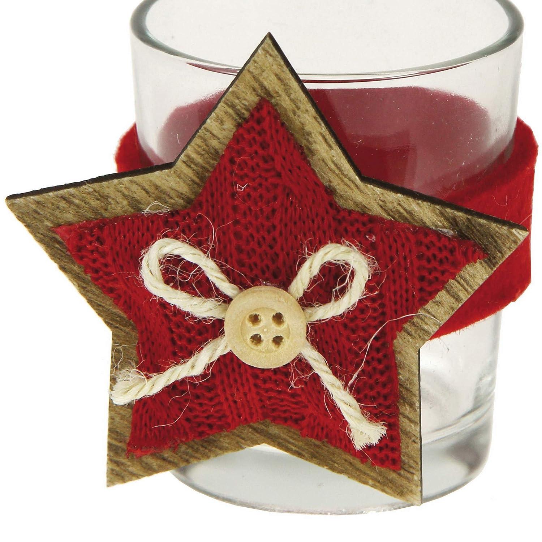 decoraci/ón para la casa para la Mesa 6 portavelas Decorados para la Mesa de Navidad Stefanazzi decoraci/ón de Navidad decoraci/ón navide/ña/…